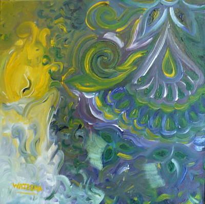 Light Patterns Art Print by Wajeeha Zarrar