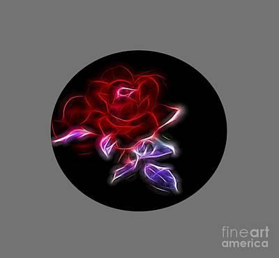 Light Play Rose Original by Linda Phelps