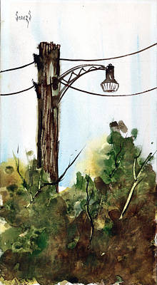 Painting - Light Pole by Sam Sidders