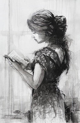 Fashion Paintings - Light Reading  by Steve Henderson