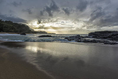 Photograph - Light Shining On The Beach by Jon Glaser