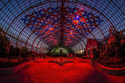 Installation Art Photograph - Light Show At The Conservatory by Sven Brogren