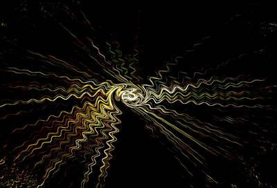 Digital Art - Light Sound Waves by Marie Jamieson