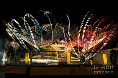 Light Spin Art Print by Alicia White