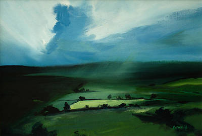 Green Painting - Light Squall by Neil McBride