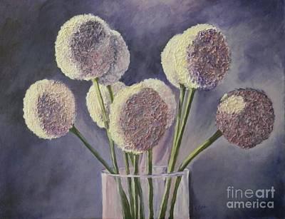Light Struck Alliums Original by Jan Gibson