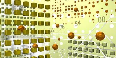 Abstract Digital Art - Light Tech Space by Alberto RuiZ