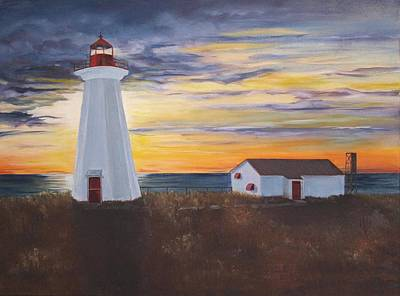 Art Print featuring the painting Light The Way by Diane Daigle