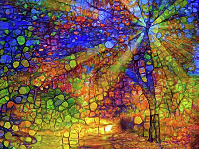 Mixed Media - Light Through The Tree by Lilia D