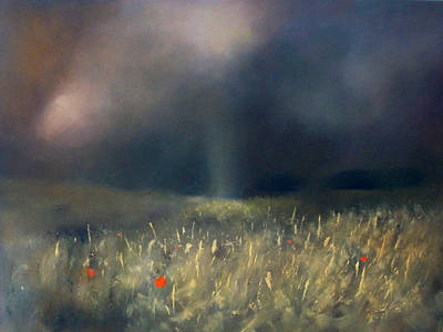 Thunder Painting - Light Through Distant Thunder by Robert Selkirk
