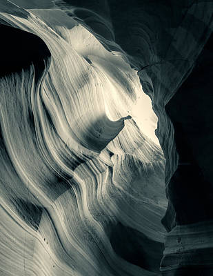 Photograph - Light Through The Canyon Bw by Jonathan Nguyen