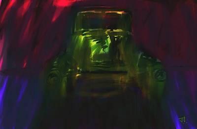 Painting - Light Through The Cracks. by Jim Vance
