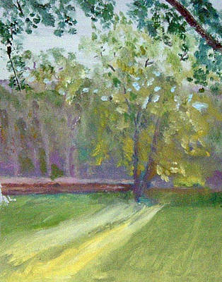 Painting - Light Through The Trees by Paul Thompson
