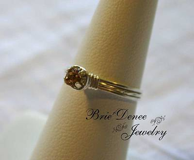 Sterling Silver Rings Jewelry - Light Topaz Prong Ring Sz 6.5 by Brittney Brownell