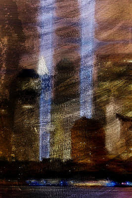 Nyc Digital Art - Light Towers by Andrea Barbieri