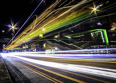 Street Photograph - Light Trails 1 by Nicklas Gustafsson