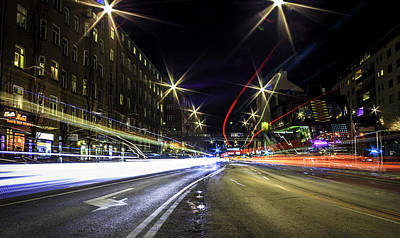 Stockholm Photograph - Light Trails 2 by Nicklas Gustafsson