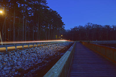 Photograph - Light Trails On Elbow Road by Nicole Lewis