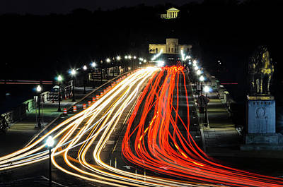 Photograph - Light Trails To Arlington by Stewart Helberg