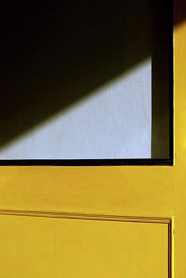 Photograph - Light Triangle On Yellow Door by Prakash Ghai