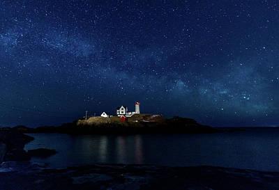 Photograph - Light Up Nubble Lighthouse by Darryl Hendricks