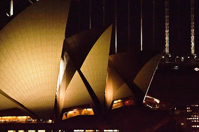 Photograph - Light Up Sail Of Opera House  by Miroslava Jurcik