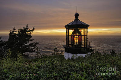 Light Up The Lighthouse Art Print by Moore Northwest Images