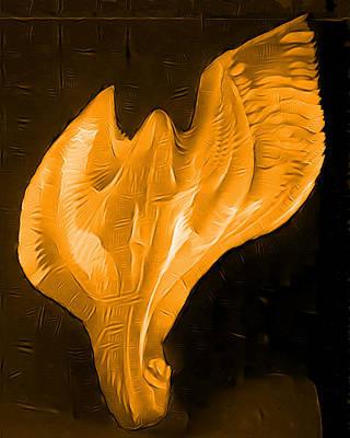 Warrior Goddess Digital Art - Light Warrior Goddess - Gold by Artistic Mystic