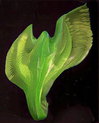 Light Warrior Goddess - Green Art Print