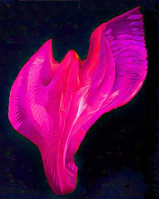 Light Warrior Goddess - Pink/purple Art Print