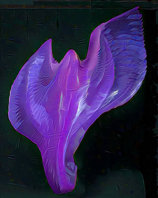 Light Warrior Goddess - Purple Art Print