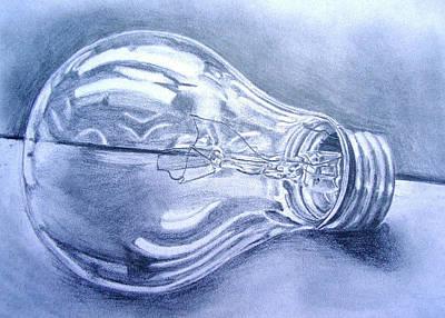 Lightbulb Drawing - Lightbulb by Jayne Hubscher