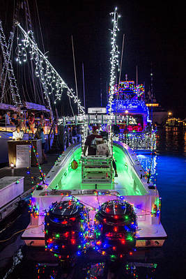 Photograph - Lighted Boat Parade 1 by Bob Slitzan