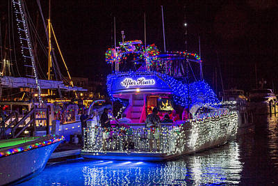 Photograph - Lighted Boat Parade 4 by Bob Slitzan