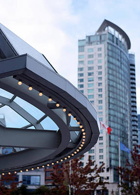 Photograph - Lighted Canopy Canada Place by Connie Fox