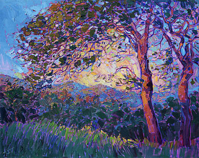 Painting - Lighted Greens by Erin Hanson