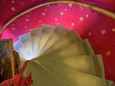 Photograph - Lighted Stairs by Jean Noren