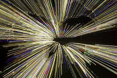 Photograph - Lighted Tree Burst by Liza Eckardt