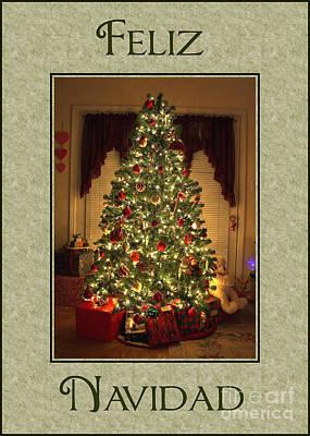 Digital Art - Lighted Tree Navidad by JH Designs