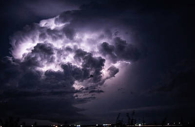 Photograph - Lightening At Night by MaryAnn Janzen