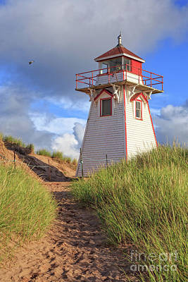 Photograph - Lighthouse Among The Dunes by Edward Fielding