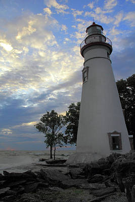 Photograph - Lighthouse And Blue Skies by Angela Murdock