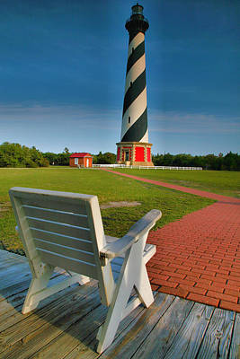Hatteras Island Photograph - Lighthouse And Chair by Steven Ainsworth