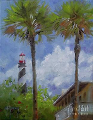 Lighthouse And Palms Art Print