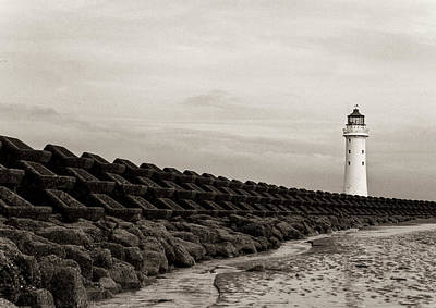 Photograph - Lighthouse And Sea Wall 2 by Beverly Cash