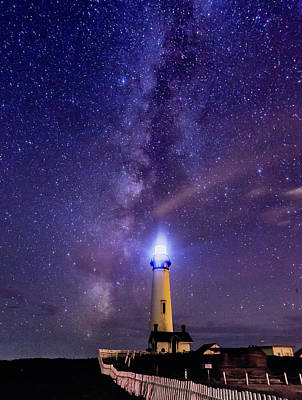 Photograph - Lighthouse And The Cosmos by Nick Borelli