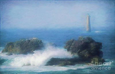 Painterly Photograph - Lighthouse And Waves. by Robert Brown