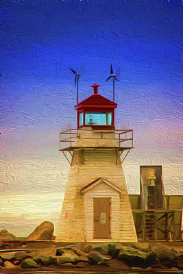 Painting - Lighthouse by Andre Faubert