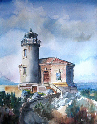 Painting - Lighthouse At Bandon by Richard Zunkel