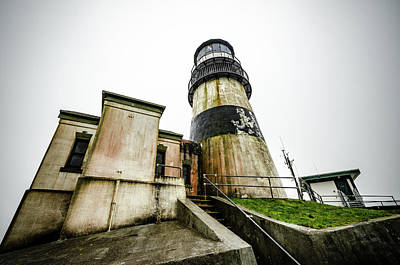 Photograph - Lighthouse At Cape Disappointment by Anthony Doudt